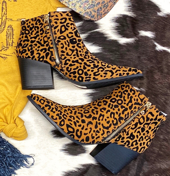 Luscious Leopard Ankle Booties