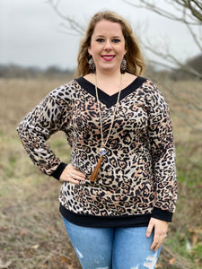 On the Prowl Leopard VNeck Top