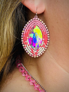 Pink Ponderosa Earrings by Sagebrush Sally's