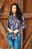 Mesa Aztec Women's Pearl Snap Button Up