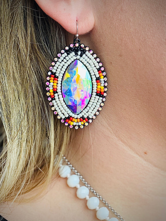 White Ponderosa Earrings by Sagebrush Sally's
