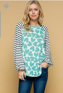 Puff Sleeve Heart Top