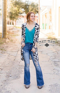 Leopard Latte Cardigan By Crazy Train