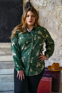Let's Rodeo Women's Pearl Snap Button Up