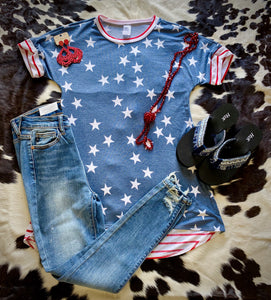 Stars and Stripes Womens Top