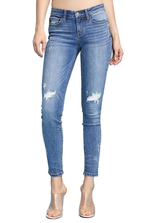 Rebecca Distress Light Wash Jeans by Judy Blue