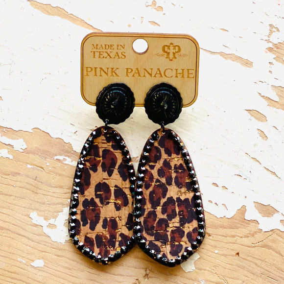 Leopard Drop Pink Panache Earrings