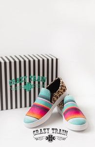 Fiesta Souls Leopard and Serape Shoes by Crazy Train