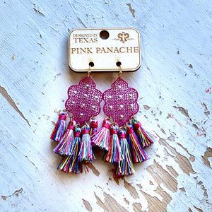 Pink Panache Pink Tassel Earrings