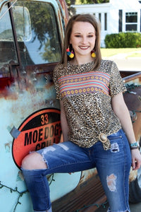Tribal Leopard Womens Top