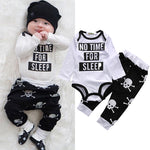 2 Pcs Babies Clothing Set Newborn Baby Kids Girl Boy Outfit Infant New Kid Bodysuit Onesie+Skull Pants Xmas Outfits Clothing Set - Babies One