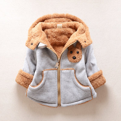 BibiCola Winter Baby Boys Jacket Kids Outerwear for Boy Girls Autumn Coat Children Thick Warm Hooded Jacket Boys Warm Coat - Babies One