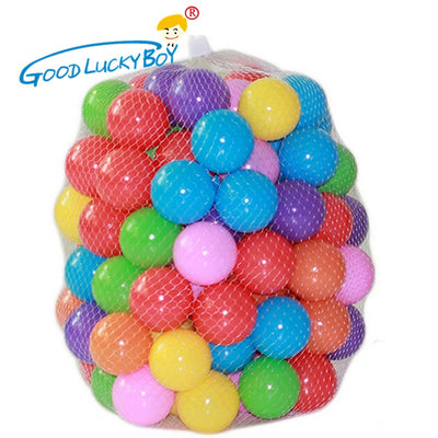 100pcs/lot Eco-Friendly Colorful Soft Plastic Water Pool Ocean Wave Ball Baby Funny Toys Stress Air Ball  Outdoor Fun Sports - Babies One