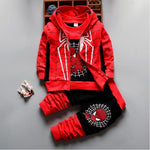 2017 Autumn Boys Clothing Sets Kids Coat jacket+T Shirt+Pants 3 Pcs Children Sport Suits Baby Boys Spider Man Clothes Set - Babies One