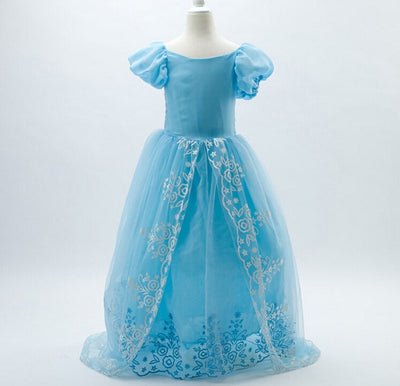 Baby Girls Dress Christmas Anna Elsa Cosplay Costume Summer Dresses Girl Princess Elsa Dress for Birthday Party Vestidos Menina - Babies One