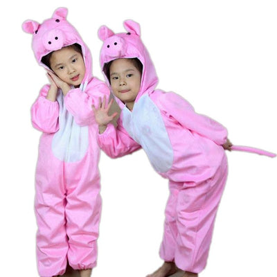 Fashion Unisex Children Jumpsuit Cosplay Cartoon Animals Onesies Kids Rompers Costume Boys Girls Performance Clothes H9 - Babies One