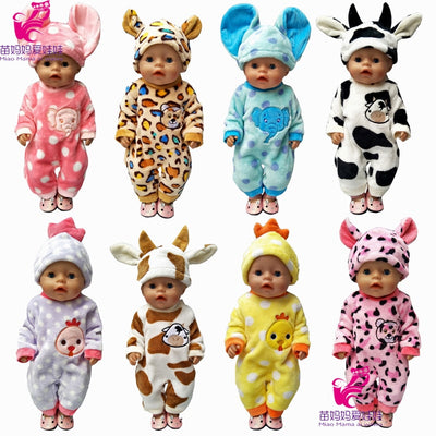 43cm Zapf Baby born doll clothes cartoon set for 18 inch american girl doll cute animal clothes - Babies One