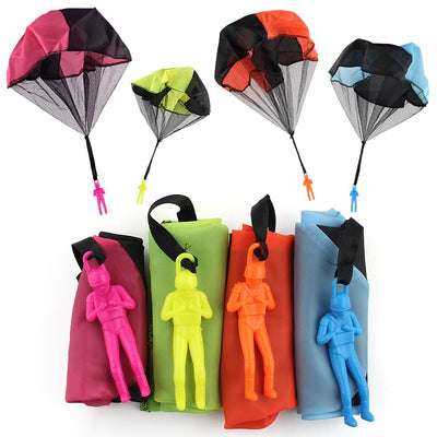 5Set Kids Hand Throwing Parachute Toy For Children's Educational Parachute With Figure Soldier Outdoor Fun Sports Play Game - Babies One
