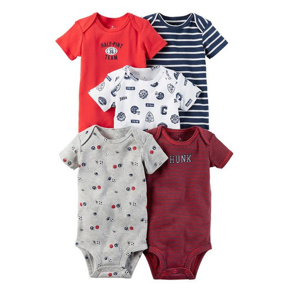 5d173cb5e27 5 Pcs Lot Baby Rompers 100% Cotton Short Sleeve Stitch Onesie Rompers  Newborns Body Clothes Baby Girl Clothes Summer Baby Romper 5 Pcs Lot Baby  Rompers 100% ...