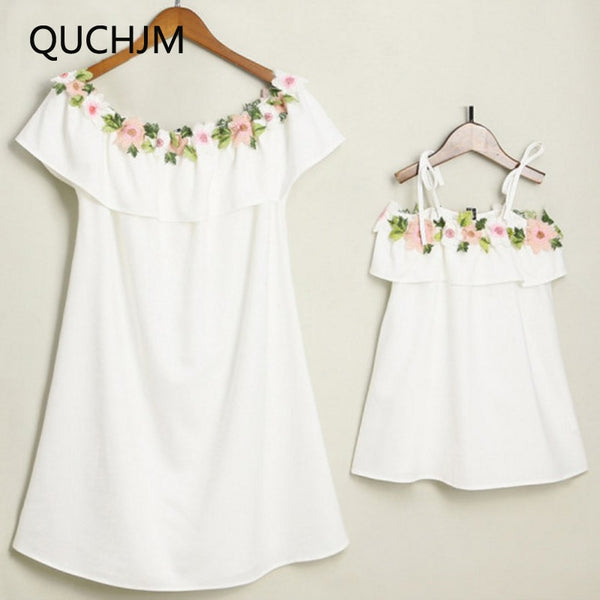 38baefa51 Family Matching Outfits 2018 new Fashion Summer Mom And Kids dress  Embroidered ruffles Baby Girls White embroidery dress Family Matching  Outfits 2018 new ...