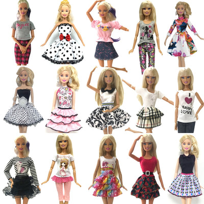 NK 2018 Newest Doll Outfit Beautiful Handmade Party ClothesTop Fashion Dress For Barbie Noble Doll Best Child Girls'Gift - Babies One
