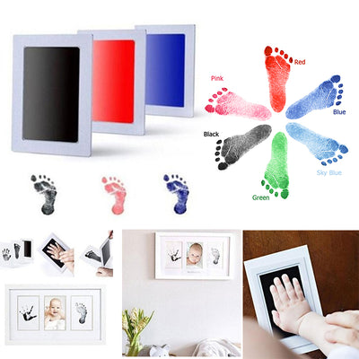 Baby Care Non-Toxic Baby Handprint Footprint Imprint Kit Baby Souvenirs Casting Newborn Footprint Ink Pad Infant Clay Toy Gifts - Babies One