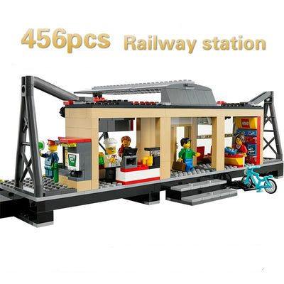 Model Building Blocks toys 456Pcs 02015 Train Station Compatible with lego City Series 60050 Brick DIY toys & hobbies - Babies One