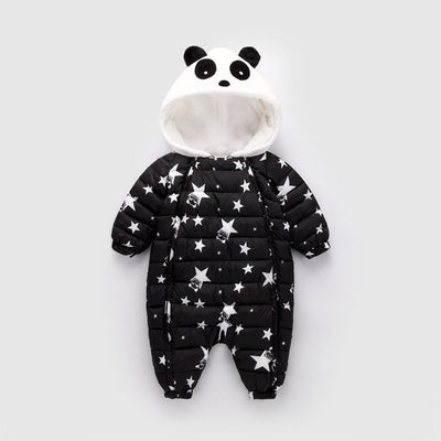 BibiCola baby rompers winter Newborn boys girls thick warm rompers jumpsuit clothing infant bebe cartoon snowsuit outfits wear - Babies One