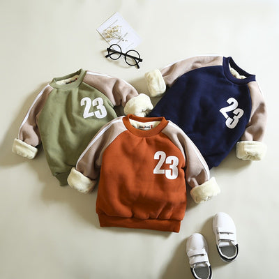 BibiCola boys sweatshirts autumn winter kids thicken warm coat outfits fleece velvet children outwears for baby boys clothing - Babies One