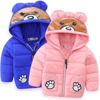 BibiCola children jackets winter boys girls hooded outwear coat kids thick warm down parkas clothing for baby boys snowsuit - Babies One