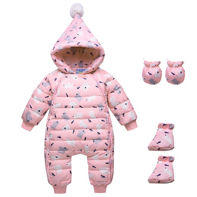 baby winter rompers newborn baby girls boys jumpsuit clothing sets toddler bebe hoodies clothes christmas clothing baby rompers - Babies One