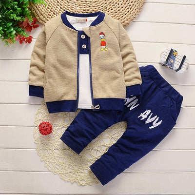 Baby boys spring autumn clothing set newborn baby 3pcs casual boys sport suits toddler tracksuits costume for boys infant set - Babies One
