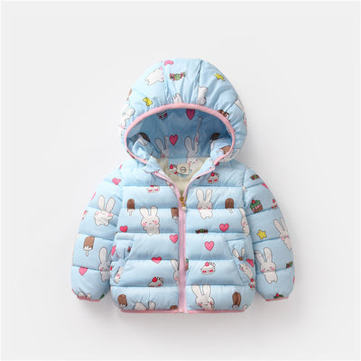 BibiCola girls winter jackets new 2018 children girls hooded outerwear coat cartoon thick warm down parkas snowsuit clothing - Babies One