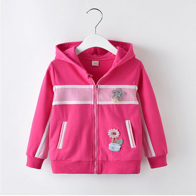 children girls hoodies outerwear spring autumn kids girls sport wear coats casual sweatshirt jacket for children girls outfits - Babies One