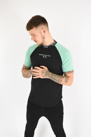 Black & Mint - Pacer Tee