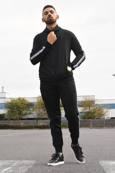 Black - Poly Tape Tracksuit