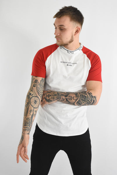 White & Red - Pacer Tee