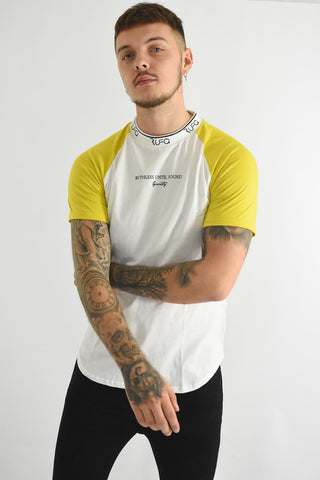 White & Yellow - Pacer Tee