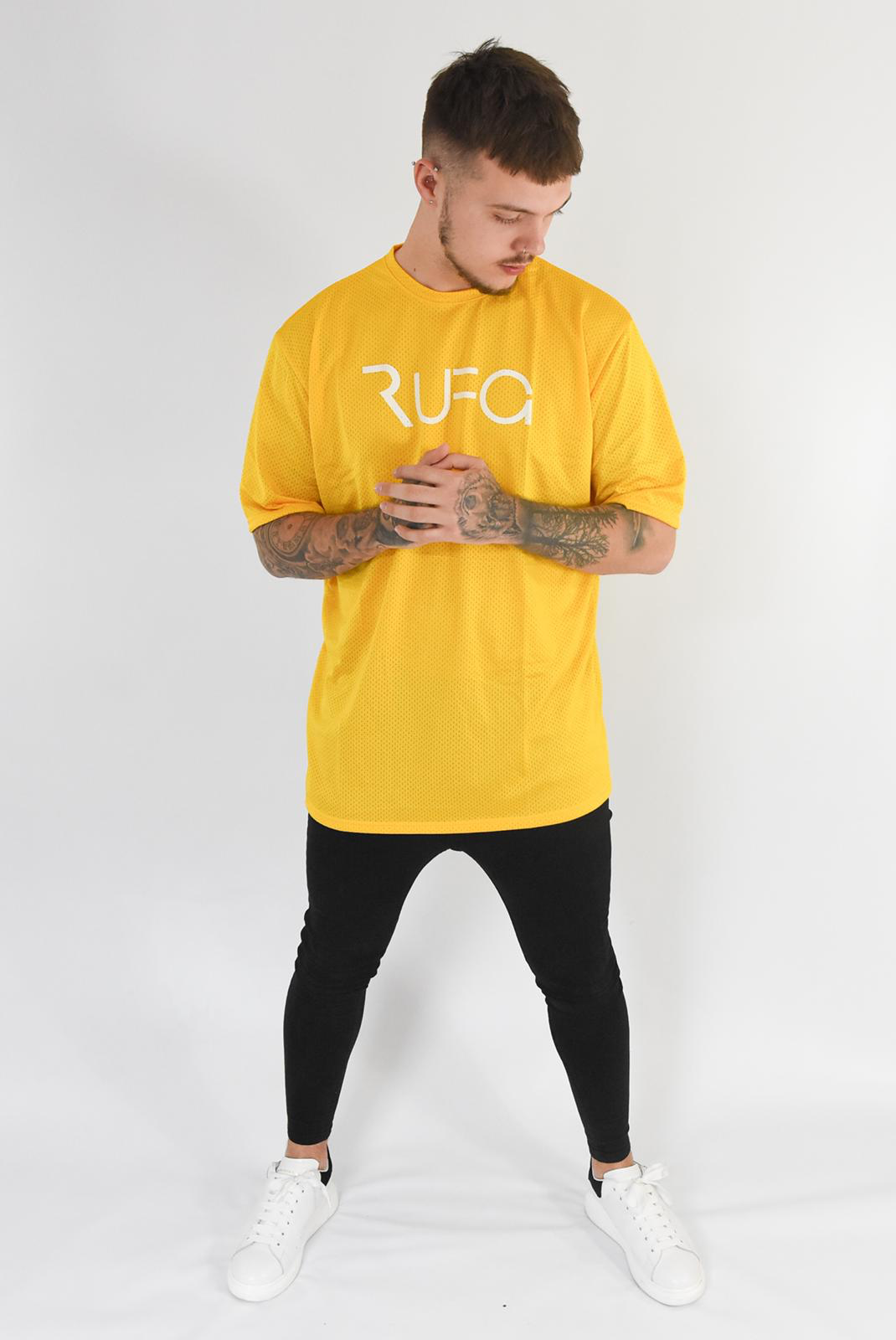Yellow - Oversized RUFG Mesh Tee