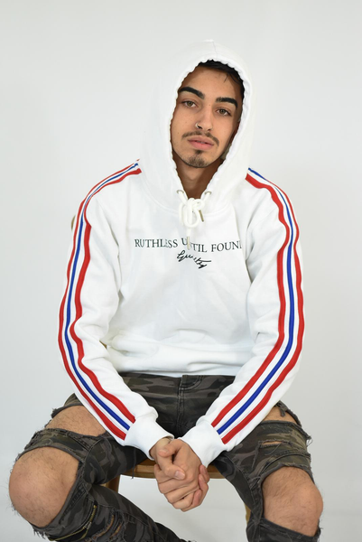 White - Ruthless Until Found Guilty GB Hoodie