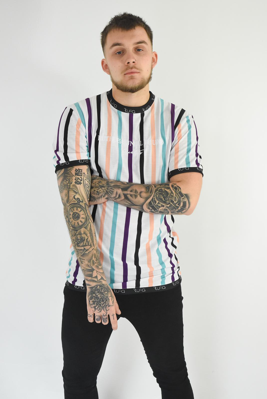 W-N-P-M-P - Ruthless Until Found Guilty Bold Stripe Tee