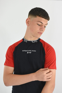 Navy & Red - Pacer Tee