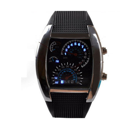 Led Digital Watch Unique Men'S Watch