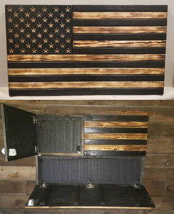 Burnt w/ Carved Stars Large Concealment Flag
