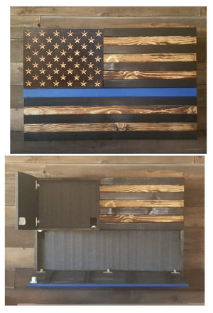 Burnt Thin Line Concealment Flag- Large