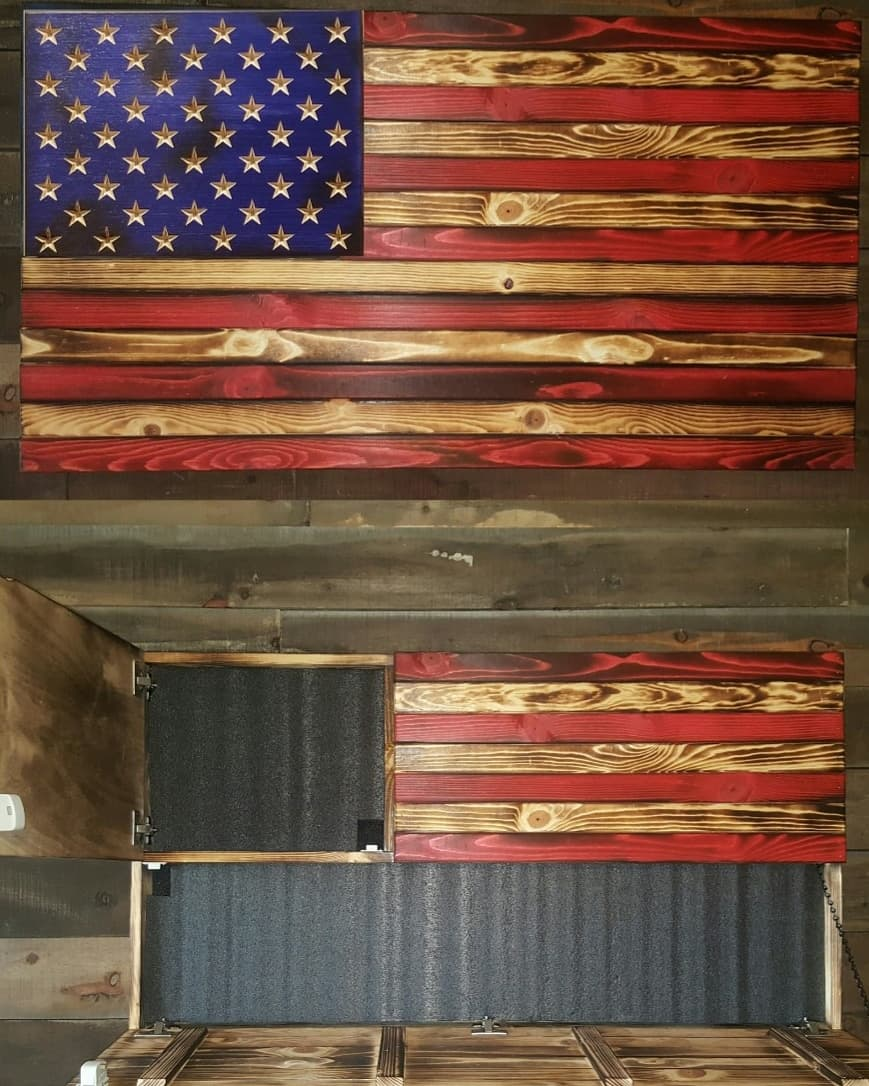 Burnt Red and Blue Concealment Flag- Large