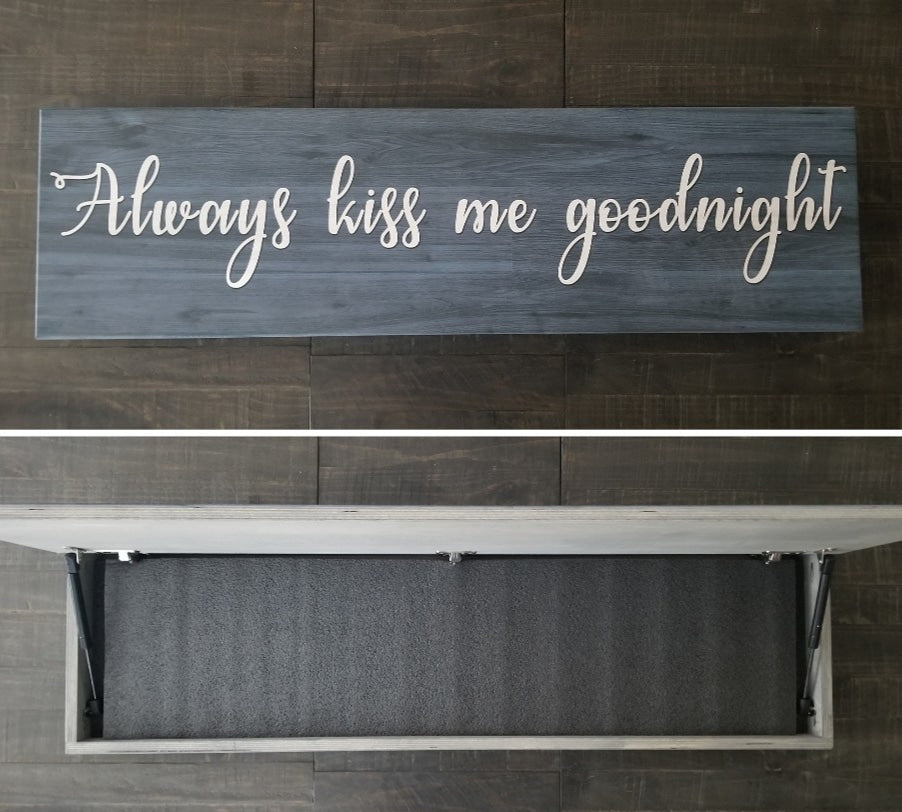 Always Kiss Me Goodnight Concealment Cabinet