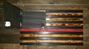 Thin Line Burnt American Flag Concealment Case (Standard Size)