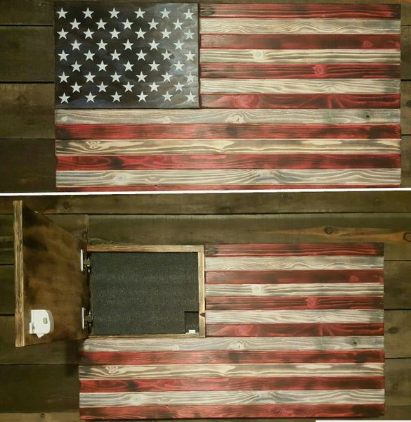 Burnt American Red White and Blue Concealment Flag (Standard Size)