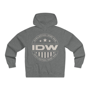 Men's Lightweight Pullover Hooded Sweatshirt - IDW Badge - Grey